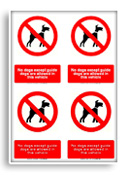 Guide dogs only sign